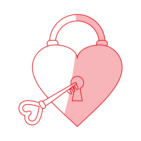 heart padlock shadow illustration icon vector design graphic Ilustrace