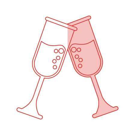toast shadow illustration icon vector design graphic