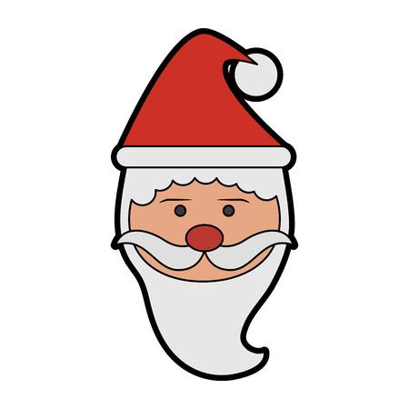 santa claus christmas character icon image vector illustration design