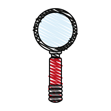inspect: magnifying glass illustration vector icon design graphic sketch Illustration
