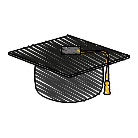 Graduation toga hat icon illustration vector design graphic Illustration