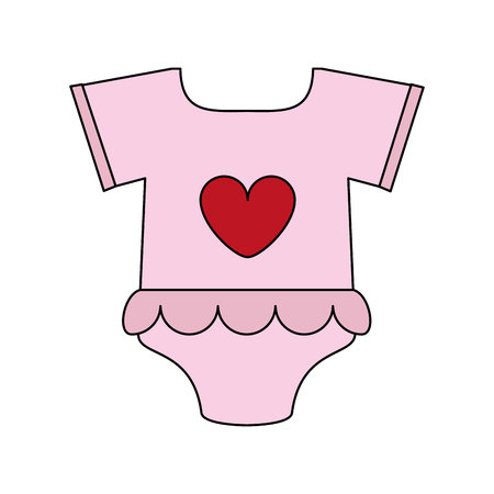 pink baby clothes icon illustration vector design graphic