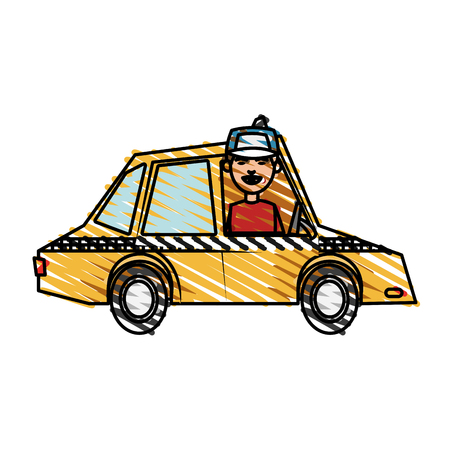 open windows: car, toy, little, vector, illustration, icon, design, graphic, sketch Illustration