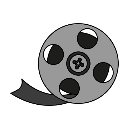Movie film over white background vector illustration Illustration