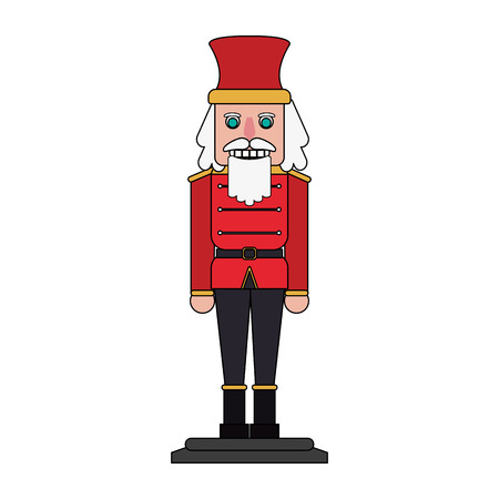 Colorful nutcracker over white background vector illustration