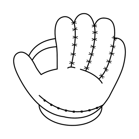 fast pitch: glove baseball related icon image vector illustration design  black line