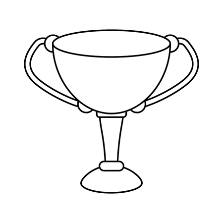 trophy cup icon image vector illustration design  black line