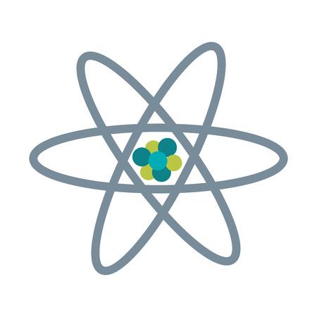 atom flat illustration vector design graphic icon Illustration