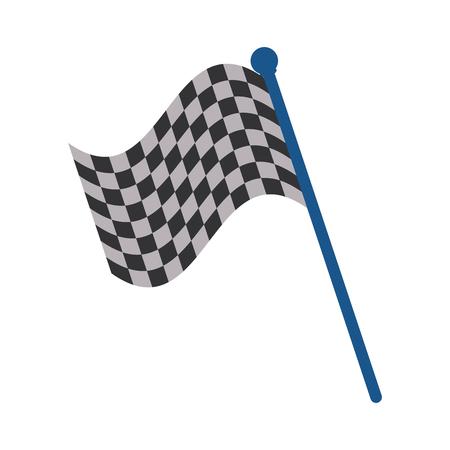 Racing flag, flat illustration icon vector graphic design