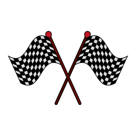 accomplish: racing flag flat illustration icon vector design graphic