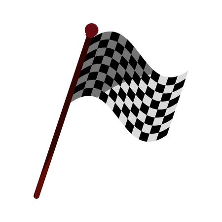 Racing flag flat illustration icon vector design graphic shadow