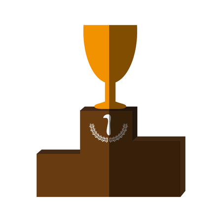 goblet: Trophy flat illustration icon vector design graphic shadow