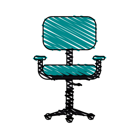 comfortable: chair office doodle illustration vector icon design graphic Illustration