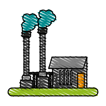 factory illustration cartoon icon vector design graphic