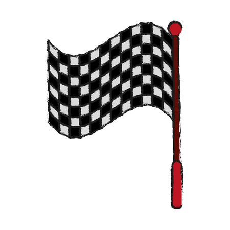 motorizado: racing flag draw illustration icon vector design graphic