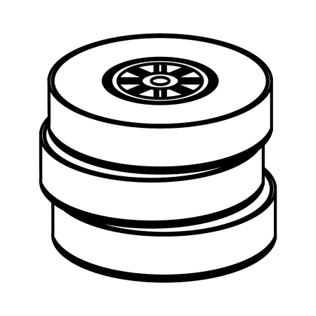 car tire: tirescar race illustration icon vector graphic design