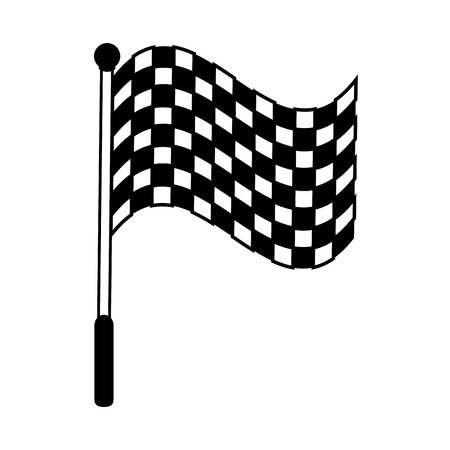 Racing flag silhouette  illustration icon vector design graphic