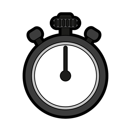 interval: Chronometer flat illustration icon