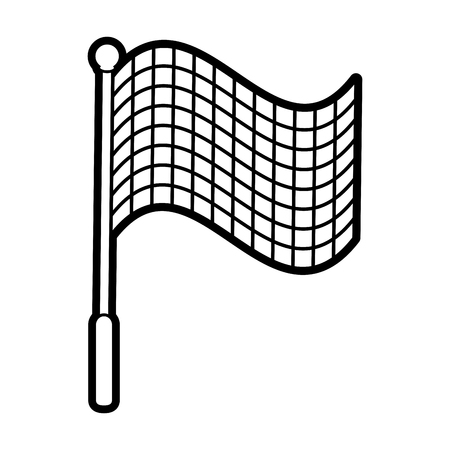 racing flag silhouette illustration icon vector design graphic