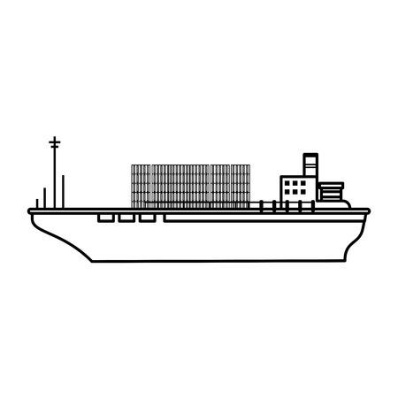 boat transport commodity illustration flat vector icon design graphic Illustration