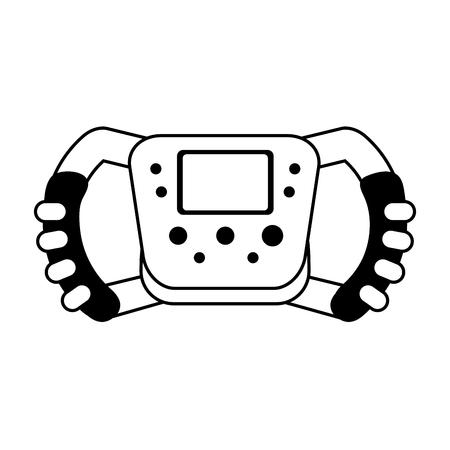 car tire: steering wheel racer silhouette  illustration design graphic icon vector