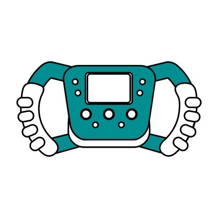steering wheel racer flat illustration design graphic icon vector Illustration