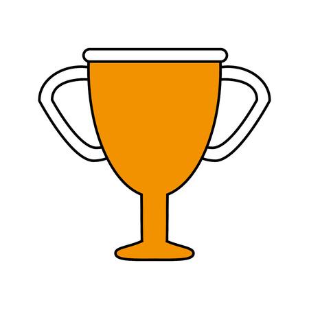 primer lugar: Trofeo plano ilustración vectorial icono de diseño gráfico