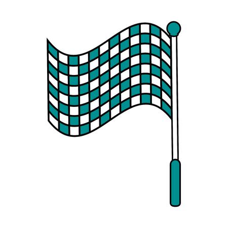 motorizado: racing flag flat illustration icon vector design graphic