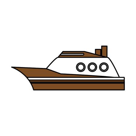 dinghy: boat tourist illustration icon vector design graphic Illustration