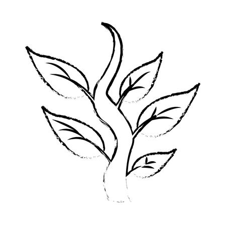 工場蒸気葉自然植物アイコン ベクトル図