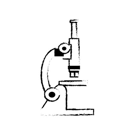 sketch microscope laboratory test sample science vector illustration Illustration