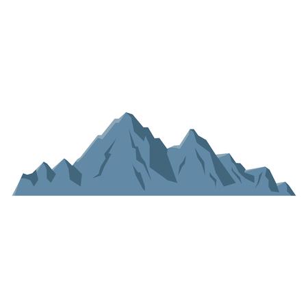 山ピーク高山自然観光ベクトル図  イラスト・ベクター素材