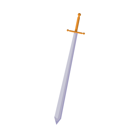 cartoon sword weapon comic accessory vector illustration