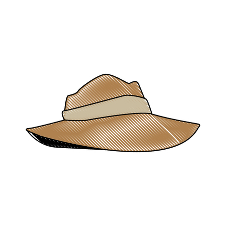 hat for men clothes costume halloween vector illustration