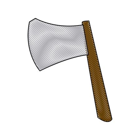 ax weapon viking halloween imitation accessory vector illustration