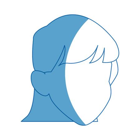 default girl avatar profile icon vector illustration