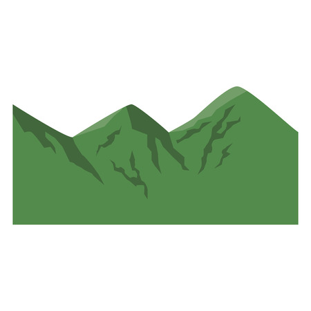 cartoon green climbing in the mountains image vector illustration