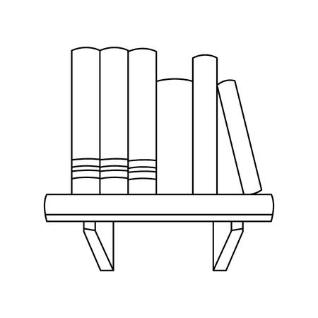 livres livres littérature apprendre l & # 39 ; image négative illustration vectorielle