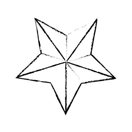 star award: star award prize decoration icon vector illustration