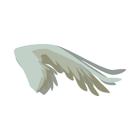 outstretched: spread out bird or angel wing feathers icon vector illustration Illustration