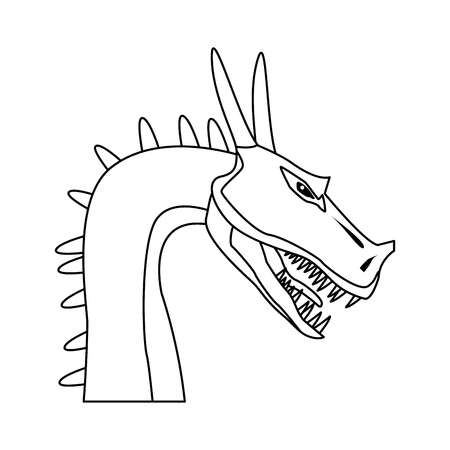 dragon mythical creature fantasy beast animal vector illustration