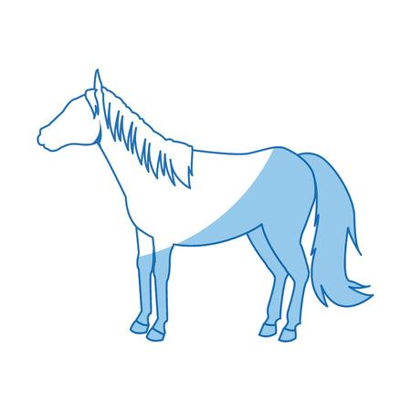 horse animal mammal nature equine icon vector illustration