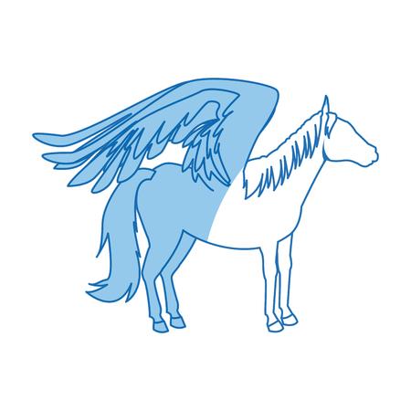 legendary winged horse from greek mythology pegasus vector illustration