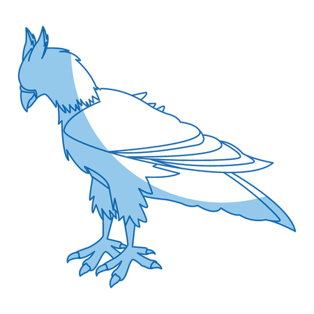 ferocious: griff creature animal bird mythical image vector illustration Illustration