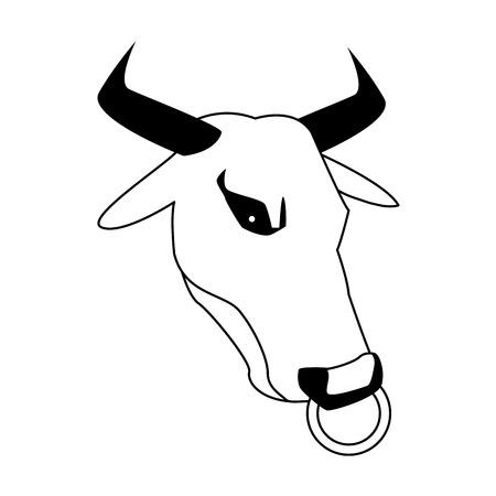 minotaur greek mythological creature horns mystic vector illustration