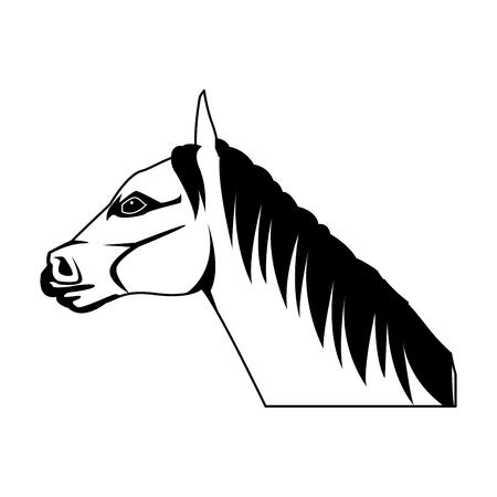 unicorn legendary mythical creature horned vector illustration Illustration