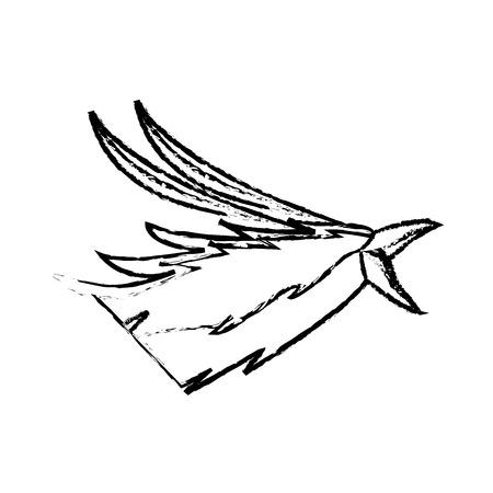 phoenix head bird mythological magic image vector illustration Ilustração