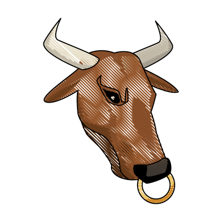 minotaur greek mythological creature legend image vector illustration
