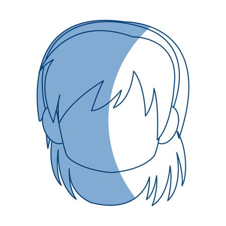 Chibi anime girl avatar contorno por defecto ilustración vectorial Foto de archivo - 80045938