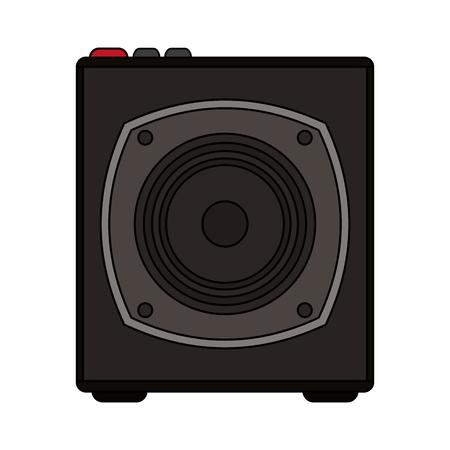 white background with portable loudspeaker vector illustration